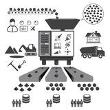 Big Data icons set, Data mining concept Royalty Free Stock Photography
