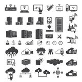 Big data icons set Stock Photo