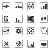 Big data icons set Stock Image