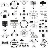 Big data icons set Vector illustration Stock Photography