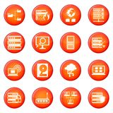 Big data icons vector set Stock Photo