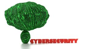 Big data increases cybersecurity danger concept Stock Photo