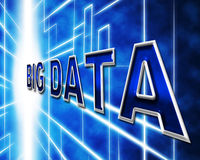 Big Data Indicates Info Knowledge And Information Stock Image