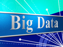 Big Data Indicates World Wide Web And Websites Stock Images