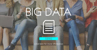 Big Data Information Technology Networking Concept Stock Photos