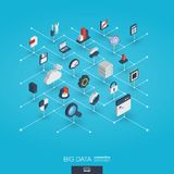 Big data integrated 3d web icons. Digital network isometric interact concept. Bigdata integrated 3d web icons. Digital network isometric interact concept Stock Photo