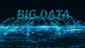 Big Data internet mobile blue digital concept 4k uhd