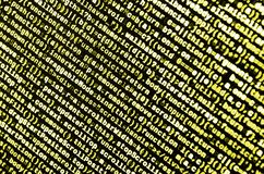 Big data and Internet of things trend. IT specialist workplace. Website HTML Code on the Laptop Display. Closeup Photo. Big data storage and cloud computing royalty free stock photo