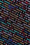 Big data and Internet of things trend. IT specialist workplace. Website HTML Code on the Laptop Display. Closeup Photo. Big data storage and cloud computing stock images