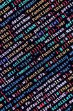 Big data and Internet of things trend. IT specialist workplace. Website HTML Code on the Laptop Display. Closeup Photo. Big data storage and cloud computing stock photos