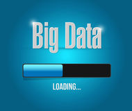Big data loading update bar sign concept Stock Photography