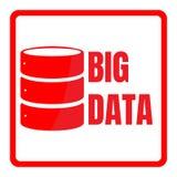 Big data machine algorithms minimalistic design. Science vector background illustration. Big data logo machine algorithms minimalistic design. Science vector Stock Images