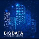 BIG DATA Machine Learning Algorithms. Analysis of Information Minimalistic Infographics Design. Science Technology Royalty Free Stock Image