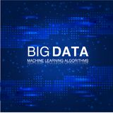 BIG DATA Machine Learning Algorithms. Analysis Science or Technology Background. Stock Image