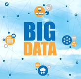 Big data network cloud computing concept Stock Image