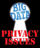 Big Data privacy security IT issues Royalty Free Stock Images