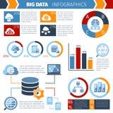 Big data processing infographics report Stock Photos