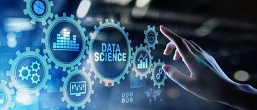 Big Data science analysis business technology concept on virtual screen. Big Data science analysis business technology concept on virtual screen stock photos