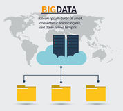 Big data server cloud folder file. Vector illustration eps 20 Stock Photography