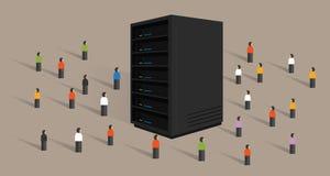 Big data server web hosting people crowd shared together Royalty Free Stock Images