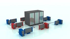 Big data servers Stock Image