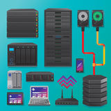Big Data. Servers and hardware Royalty Free Illustration