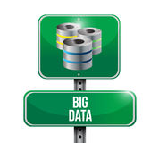 Big data servers sign illustration design Royalty Free Stock Photos
