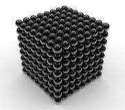 Big data set concept - cube shaped Stock Image