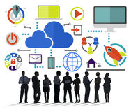 Big Data Sharing Online Global Communication Cloud Concept Stock Photo