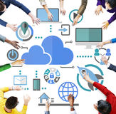 Big Data Sharing Online Global Communication Cloud Concept Royalty Free Stock Images