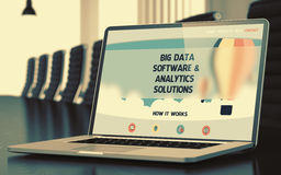 Big Data Software and Analytics Solutions Concept. 3D. Royalty Free Stock Photos