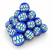 Big Data Sphere Ball Pyramid Information Resource 3d Illustratio. N Royalty Free Stock Image