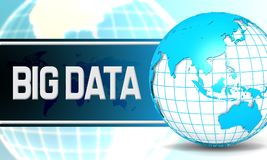 Big data with sphere globe Stock Images