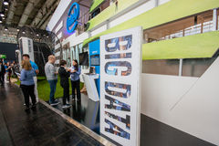 Big Data stand in booth of Intel Corporation at CeBIT Royalty Free Stock Images