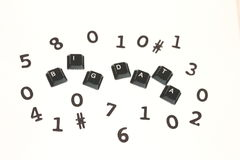 Big Data surrounded by random digits Royalty Free Stock Images