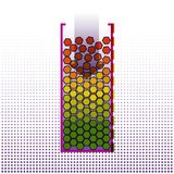 Big data systematization algorithms. Infographics Design. Techno. Logy Background. Vector Illustration Stock Images