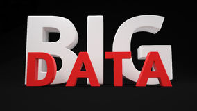 Big Data tag Stock Image