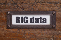 Big data  tag - file cabinet label Stock Photo