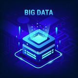 Big Data technology concept on abstract Circuits background royalty free illustration