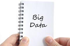 Big data text concept Stock Photos