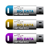 Big data usb flash drives Royalty Free Stock Photography