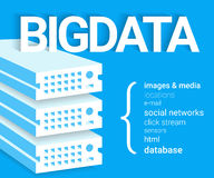 Big data - 4V visualisation Stock Images