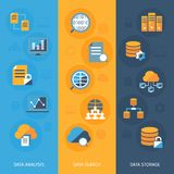 Big data vertical banners set Stock Images