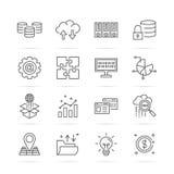 Big data vetor line icons. Big data  line icons, minimal pictogram design,  stroke for any resolution Stock Photo