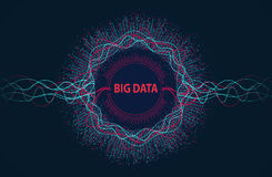 Big data. Visual information flow from points and lines. Royalty Free Stock Photo