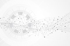 Big data visualization. Artificial Intelligence and Machine Learning Concept. Graphic abstract background communication. Perspective backdrop visualization royalty free illustration