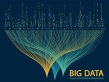 Big data visualization concept vector. Big data analytics methods and visualization concept vector design. 0 and 1 binary matrix data visualization. Digital royalty free illustration
