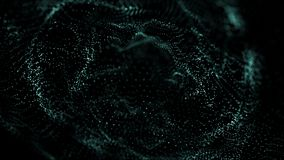 Big data visualization 3D. Technology wave. Analytics representation. Digital background. Wave of particles. Big data. Big data visualization 3D. Technology wave royalty free illustration