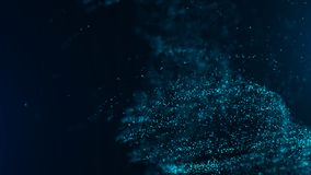 Big data visualization. Digital background. Analytics representation. Wave of particles. 4k rendering royalty free illustration