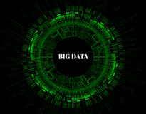Big data visualization. Futuristic infographic. Information aesthetic design. Visual data complexity. Abstract data Stock Photography